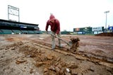 The infield at PeoplesBank Park is being resurfaced in time for the 2019 season.