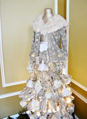 """Image of Evalina,"" a dress-form tree which represents Mrs. Goodridge is one of twenty-seven trees on display for the Goodridge Festival of Trees 2018 at the William C. Goodridge Freedom Center & Underground Railroad Museum in York City, Saturday, Nov. 10, 2018. The center is open Wednesdays and Saturdays, Nov. thru Dec., from 10 a.m. to 6 p.m., and on First Friday, Dec. 7, from 4-8 p.m. Dawn J. Sagert photo"