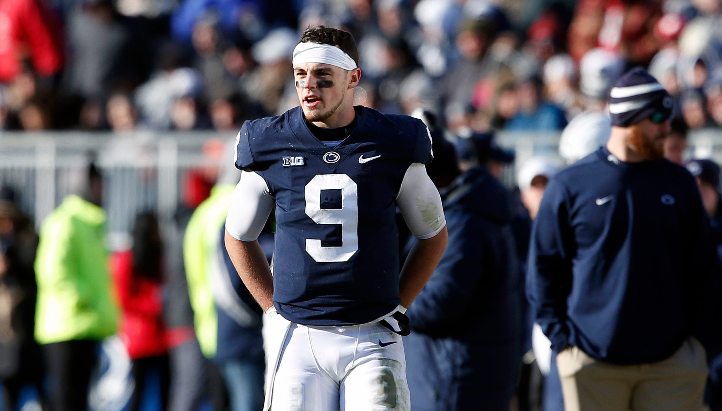 820d86a35 Rutgers-Penn State  As Trace McSorley nears wins record