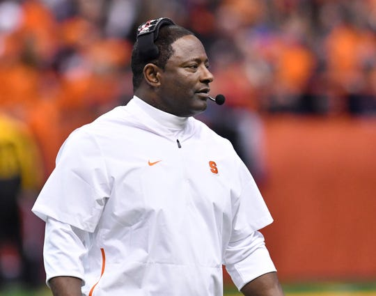 Syracuse football coach Dino Babers led the Orange to a 9-3 record this fall and recently received a long-term contract extension.