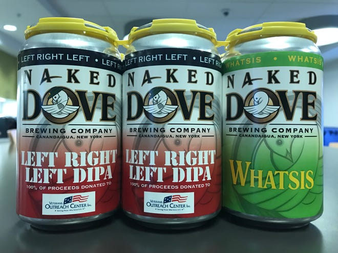 100 percent of proceeds from Naked Dove Left Right Left DIPA supports the Veterans Outreach Center.