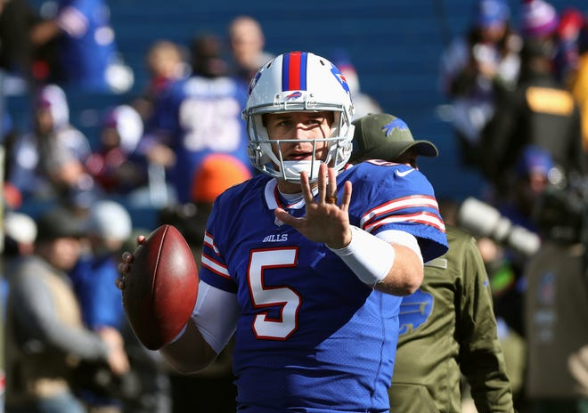 Recently signed quarterback Matt Barkley will start Sunday against the Jets.
