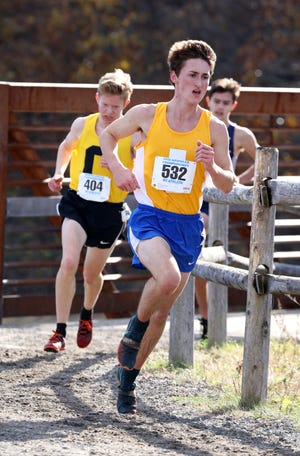 Irondequoit's Ryan Thompson, shown at the 2018 NYSPHSAA Cross Country Championships earlier this month, finished 87th at Nike Cross Nationals on Saturday.