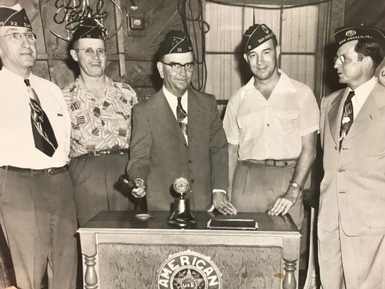 American Legion Post 32 elects leaders for 1952 in this Standard-Times file photo.