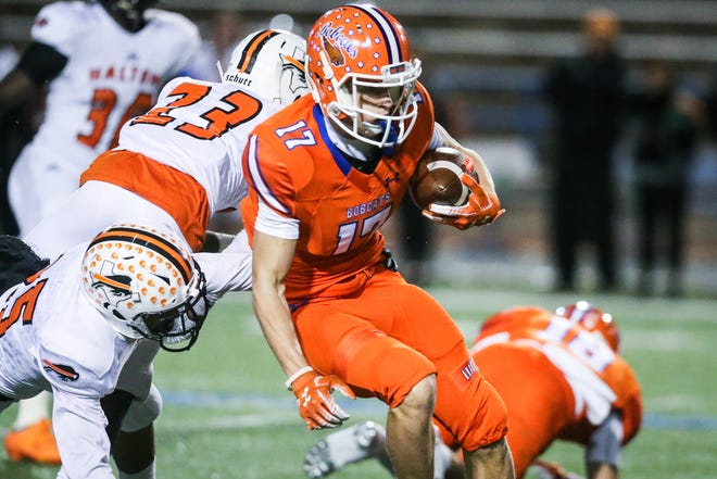Central's Tanner Dabbert runs the ball against Haltom Friday, Nov. 9, 2018, at San Angelo Stadium.
