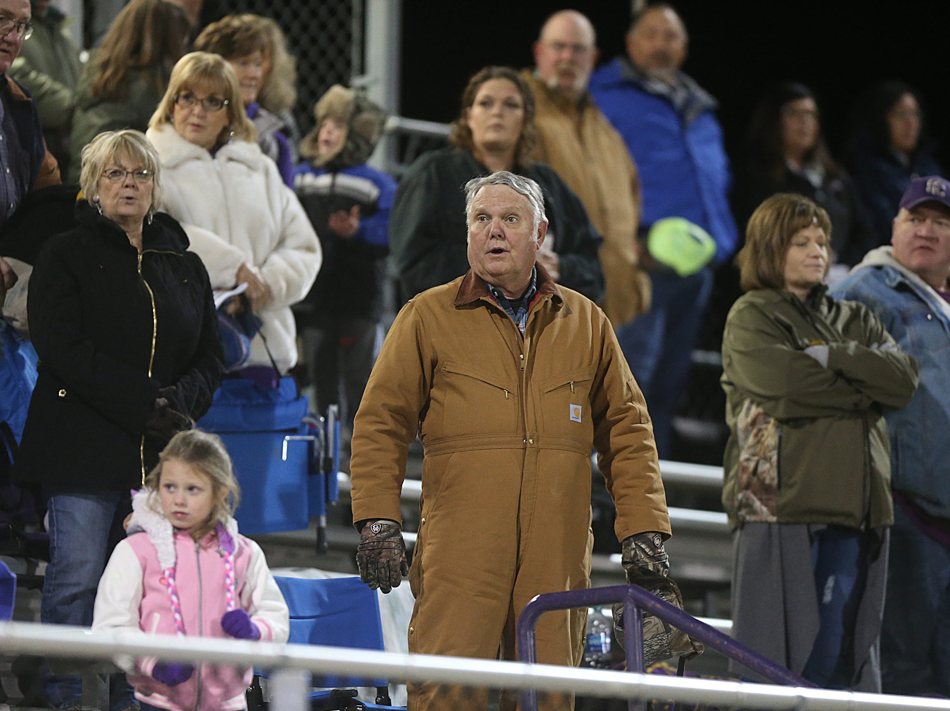 Sterling City fans watch as the Eagles make their way onto the field Friday, Nov. 9, 2018 during their game against Garden City.