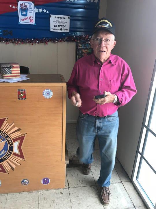 John Muckleroy, Lt. Col. USAF (retired) serves as commander of VFW Post 1815 in San Angelo.