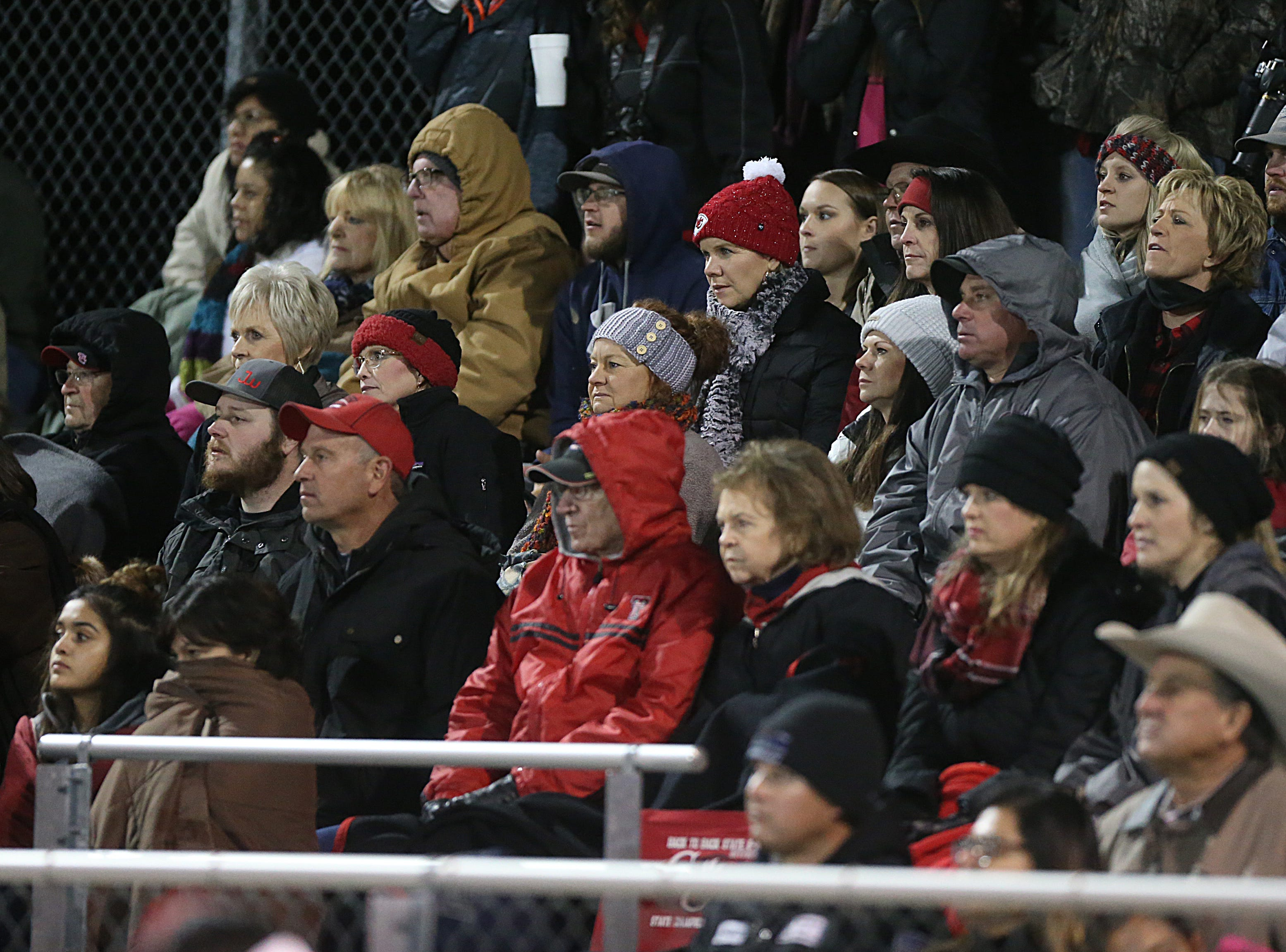 Garden City fans intensely watch the game Friday, Nov. 9, 2018 between their team and Sterling City.