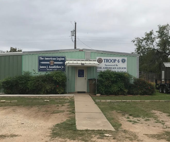 The American Legion's James J. Goodfellow Post 32 is located at 165 E. 43rd St. in north San Angelo. The post was originally chartered in 1919.