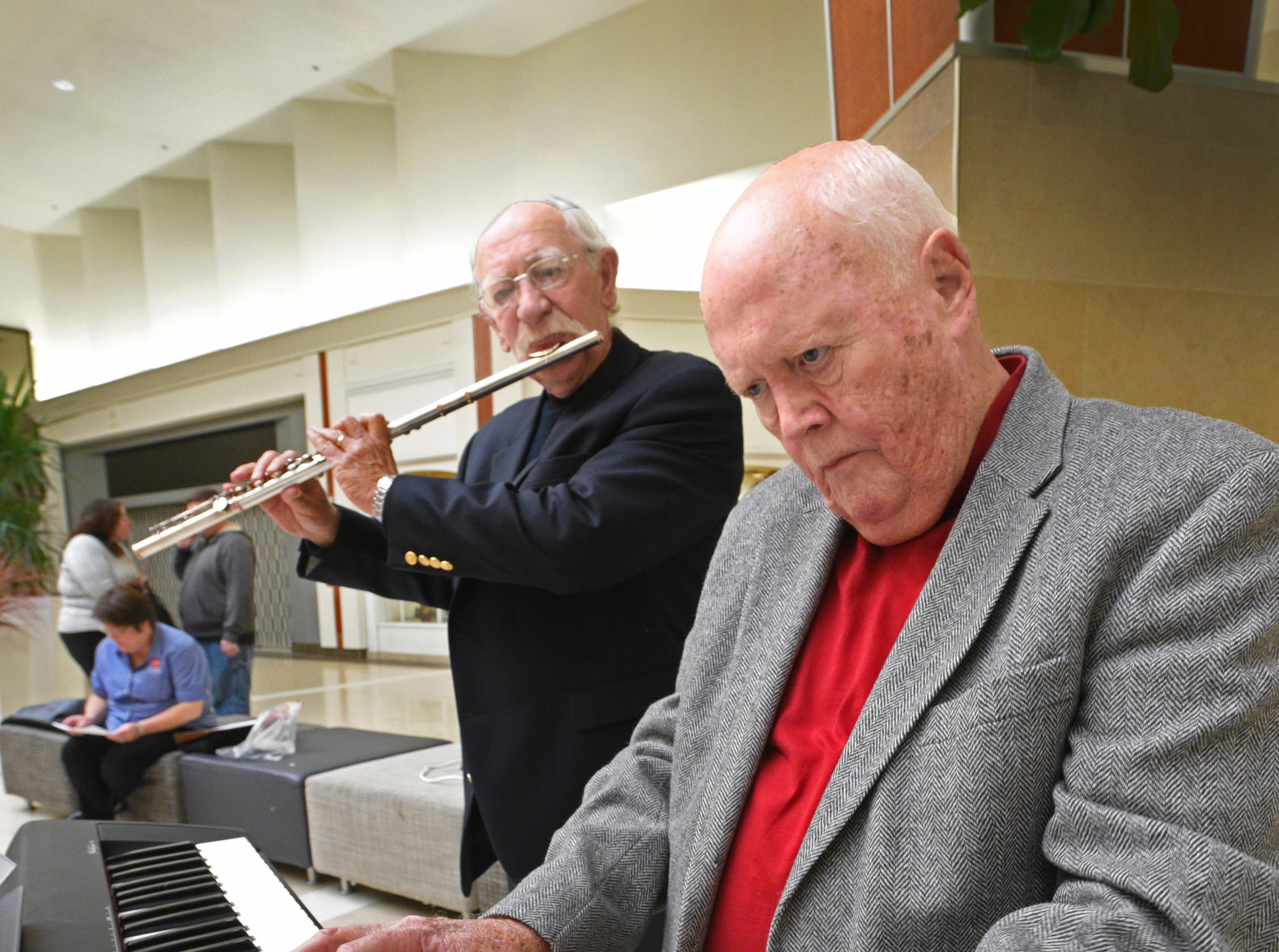 Ted Hopkins and Steve Edwards play at the Salvation Army Angel Tree and Red Kettle Campaign 2018 Holiday Kick-off at Bossier City's Pierre Bossier Mall.