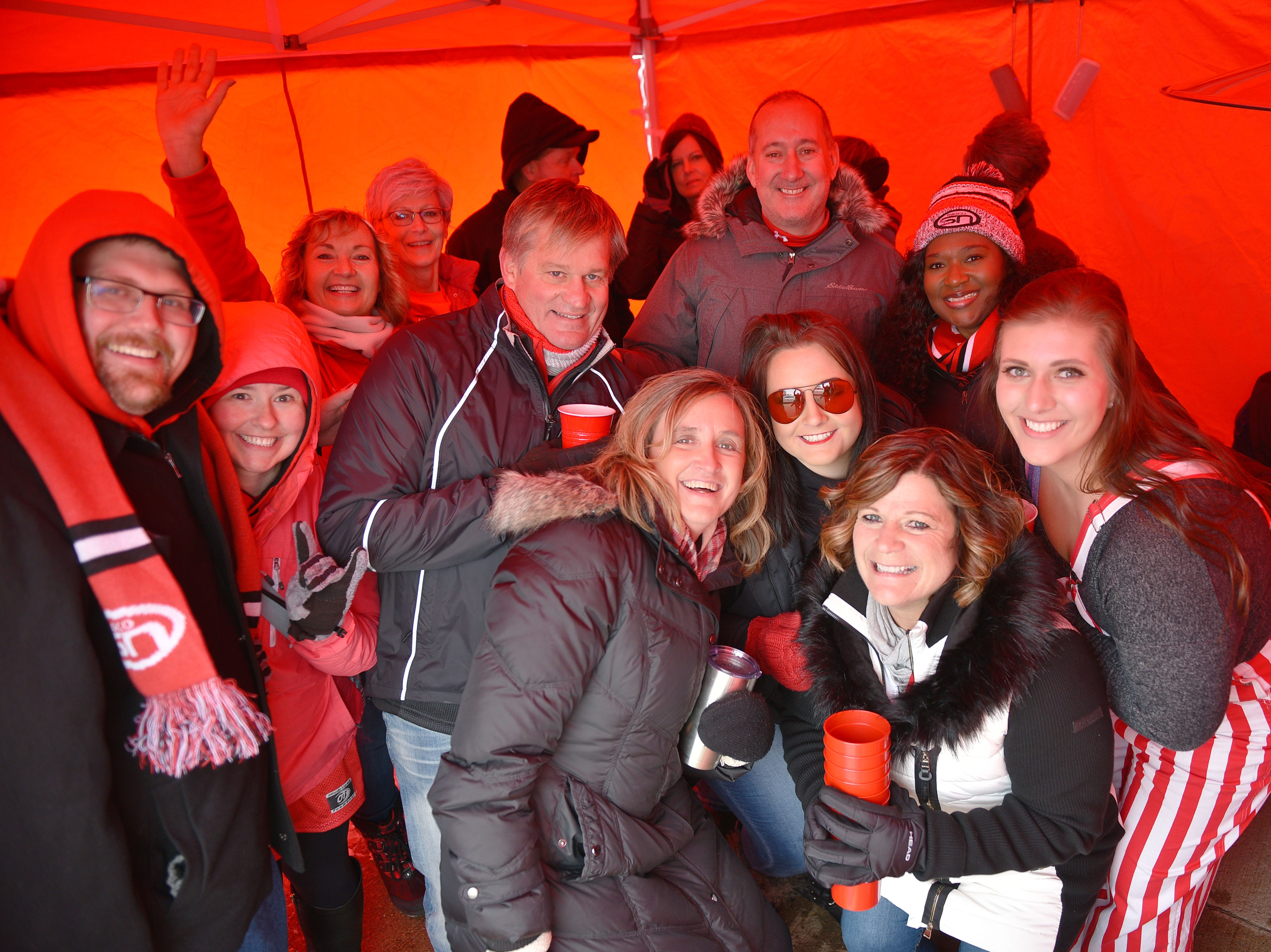 USD fans tailgate before the game against Western Illinois Saturday, Nov. 10, at the DakotaDome in Vermillion.