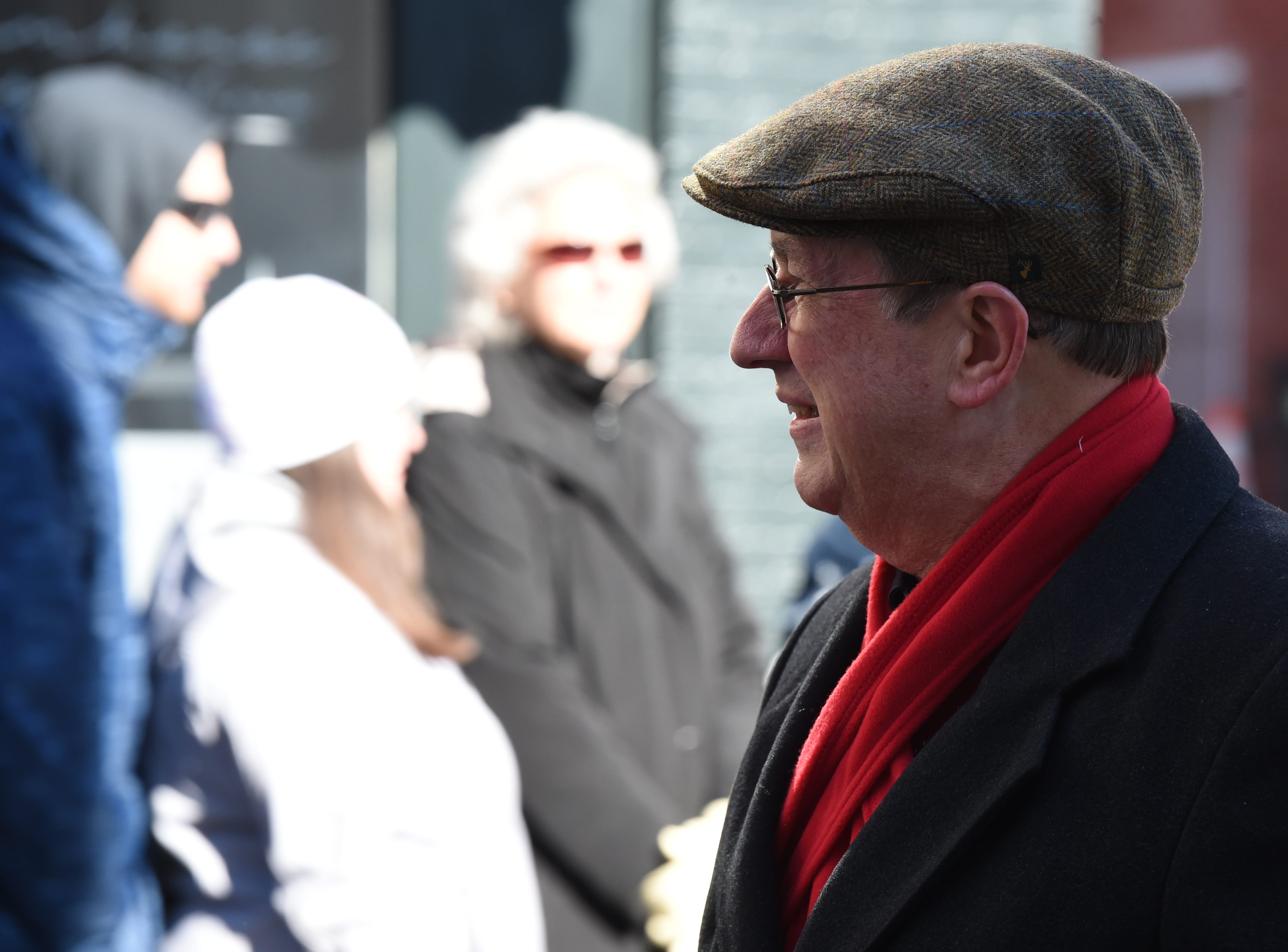 Rep. Bob Goodlatte, who will leave Congress in January, walks in the annual Veterans Day Parade on Saturday, November 10, 2018 in downtown Staunton, Va.