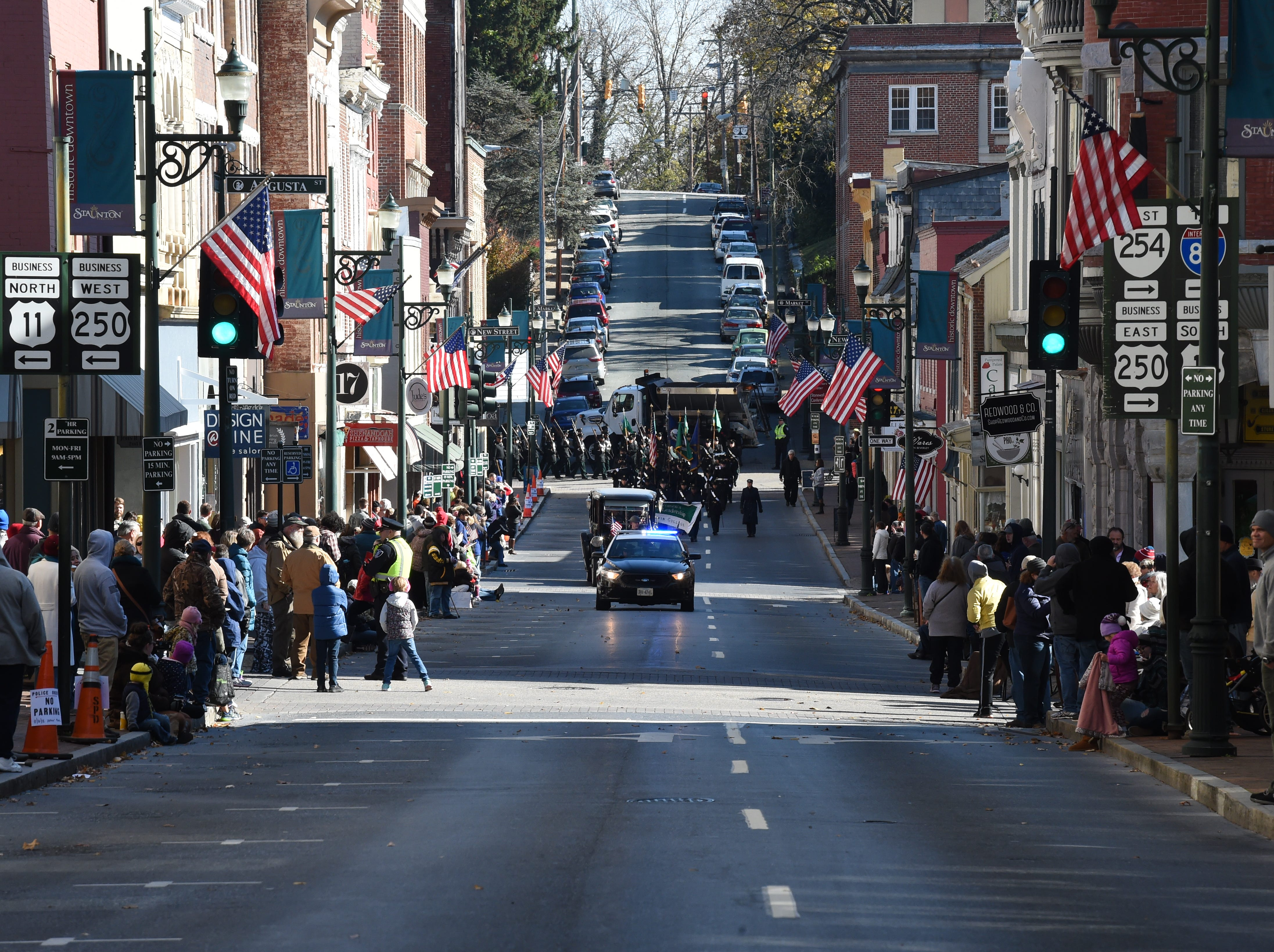 Scenes from the annual Veterans Day Parade on Saturday, November 10, 2018 in downtown Staunton, Va.
