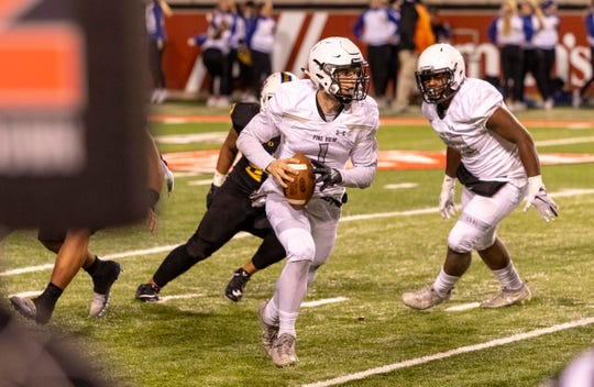 Dallin Brown (1) was the leader of the Pine View Panthers offense during the 2018 football season, leading the team in passin and rushing yards on the year.
