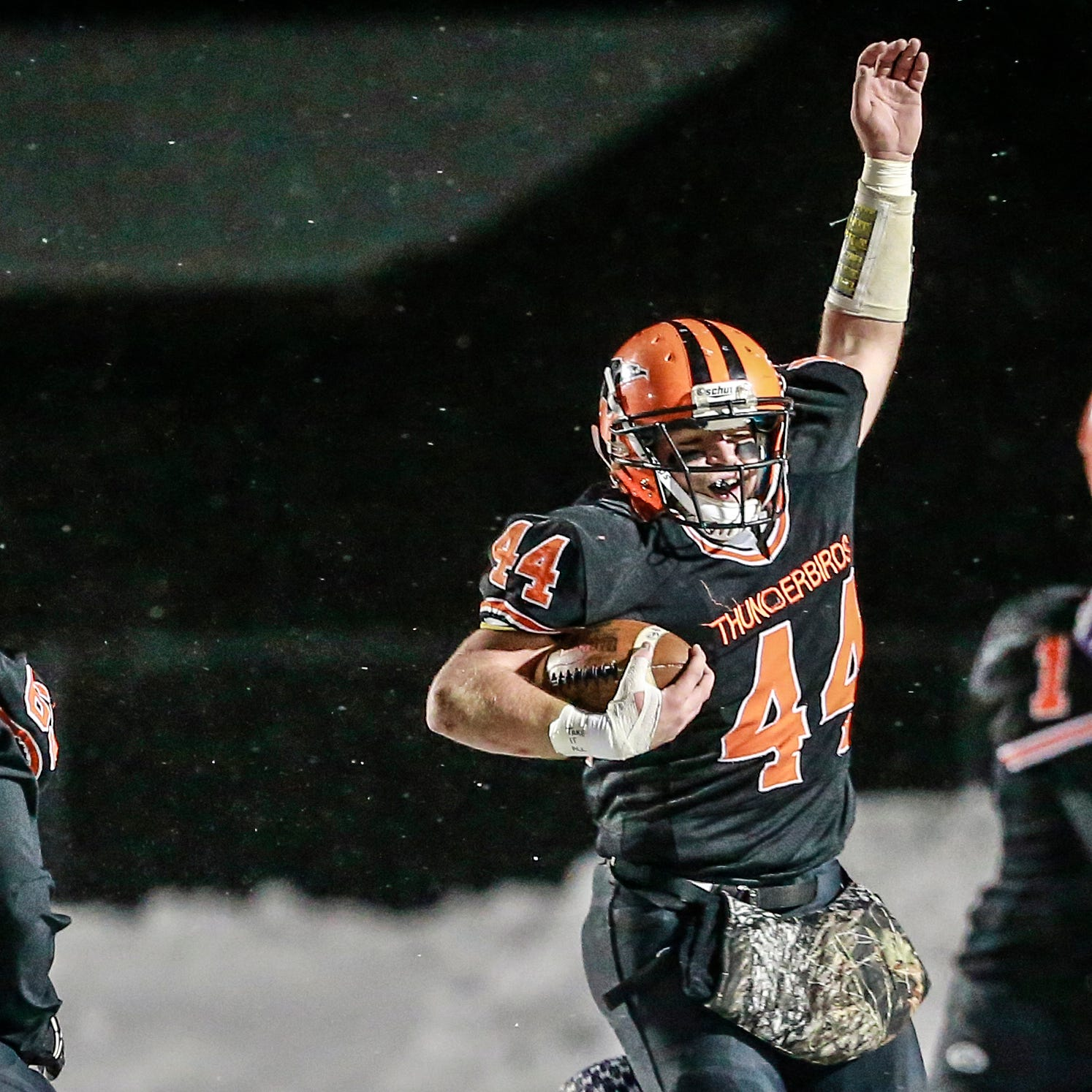 WIAA football: All-time state rushing record all part of job for T-Birds RB Bryce Huettner