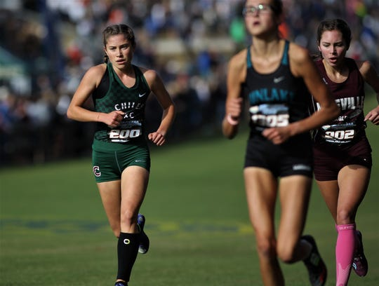Chiles junior Alyson Churchill runs during the Class 3A race of the FHSAA Cross Country State Championships at Apalachee Regional Park on Saturday, Nov. 10, 2018.