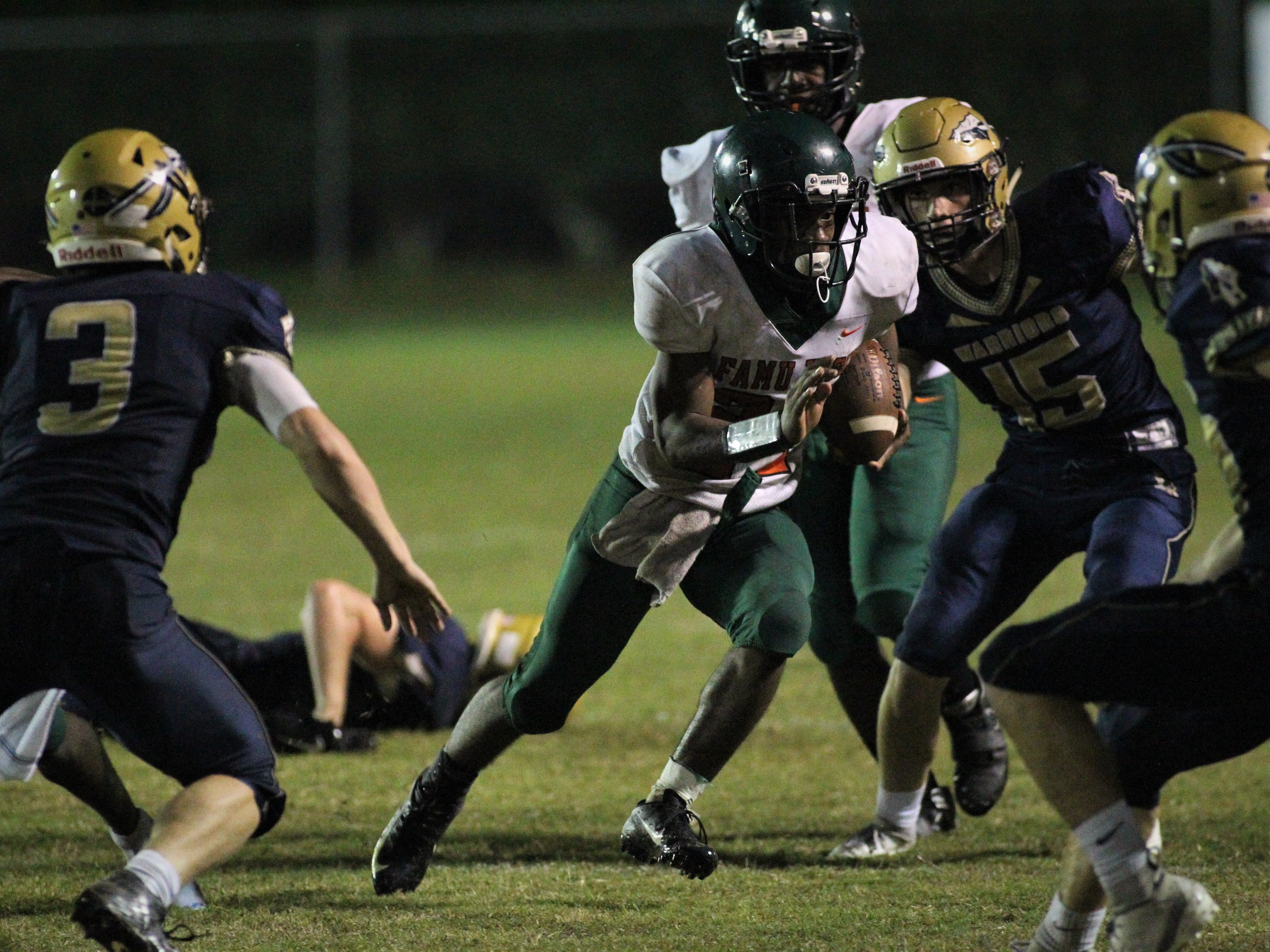 FAMU DRS defeated Aucilla Christian 28-7 in a Region 1-2A quarterfinal playoff game on Friday, Nov. 9, 2018.