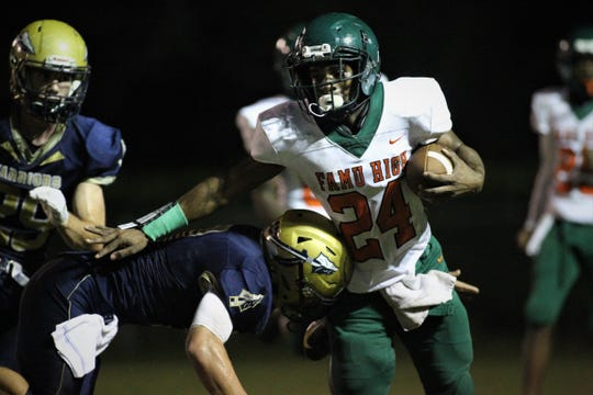 Rattlers senior running back Maurice Kirksey ran for 123 yards and two touchdowns as FAMU DRS defeated Aucilla Christian 28-7 in a Region 1-2A quarterfinal playoff game on Friday, Nov. 9, 2018.
