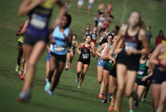 Florida High senior Summer Williams races during the FHSAA Cross Country State Championships at Apalachee Regional Park on Saturday, Nov. 10, 2018.