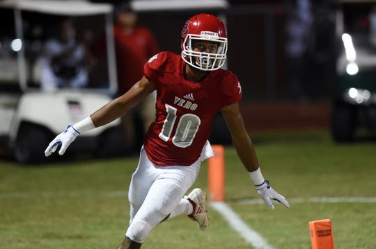 Vero Beach receiver Demarcus Harris leads the area with 63 catches for 1,463 yards and 16 touchdowns, including at least one score in nine of the Fighting Indians' 11 games this season.