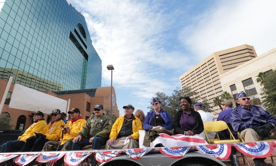 Military veterans were honored Saturday in Downtown El Paso during the annual Veterans Day Parade.