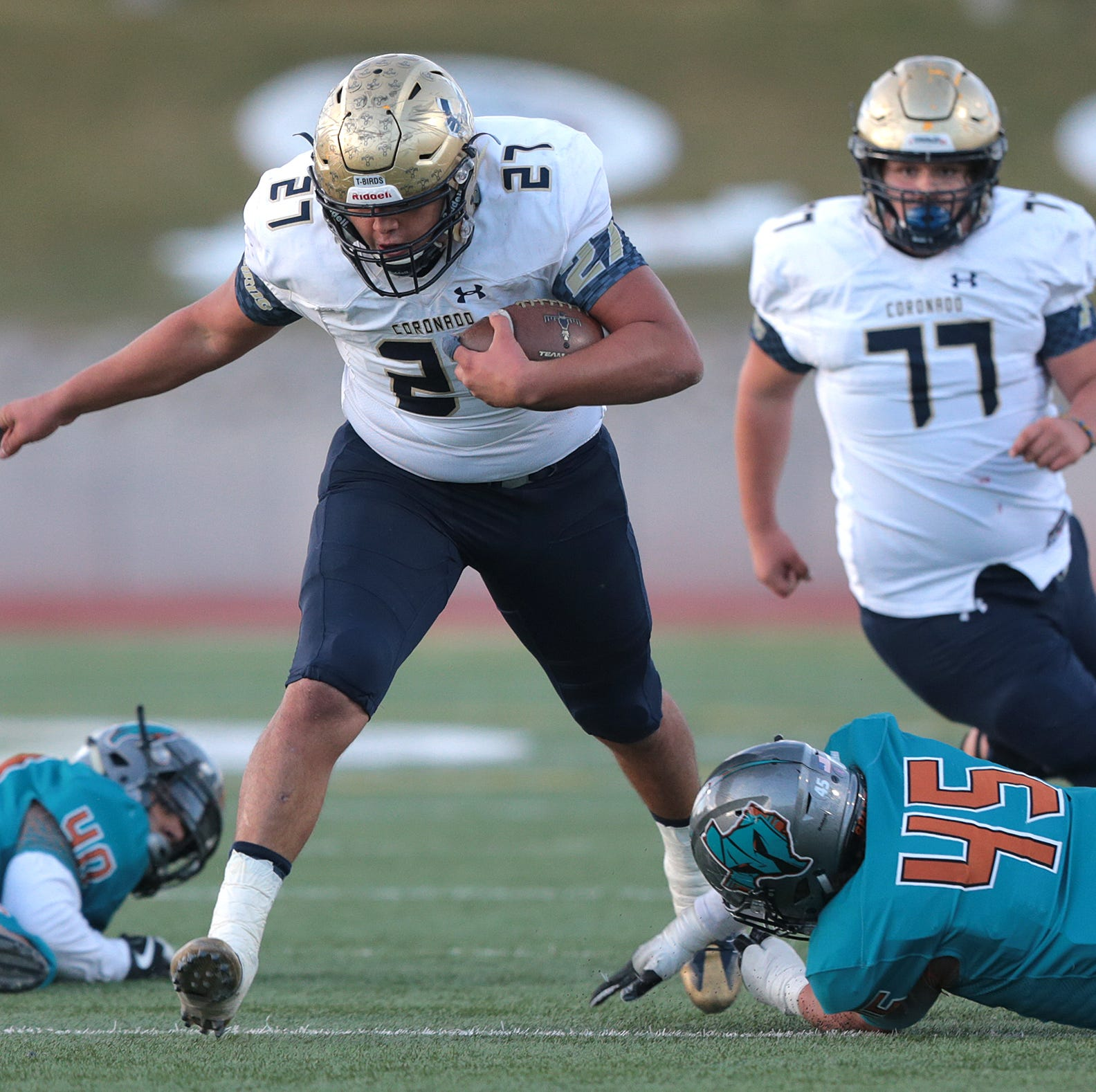 The Coronado Thunderbirds earned their way into the playoffs Friday night with a 42-25 win over Pebble Hills at the Socorro Student Activities Complex.