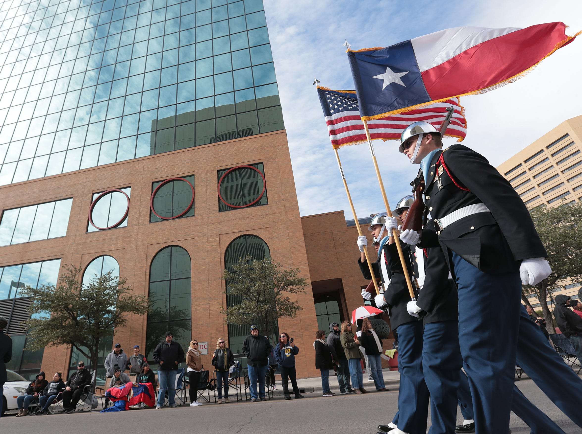 El Pasoans lined Downtown streets Saturday to pay tribute to veterans at the annual Veterans Day Parade.