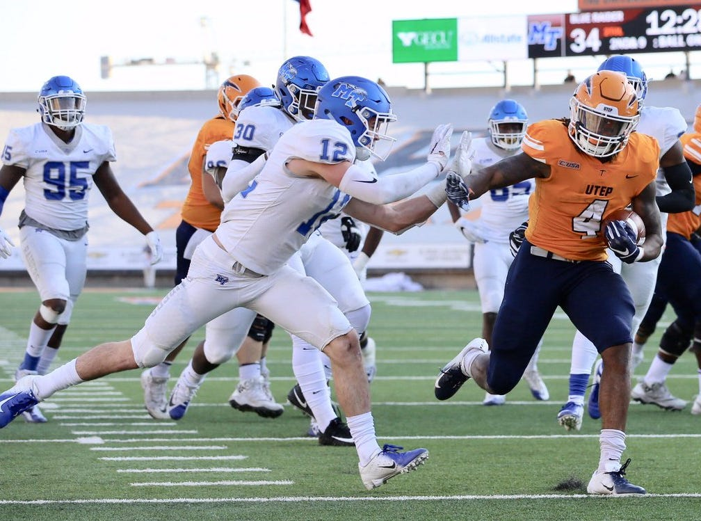 UTEP takes on Middle Tennessee at the Sun Bowl on Saturday.
