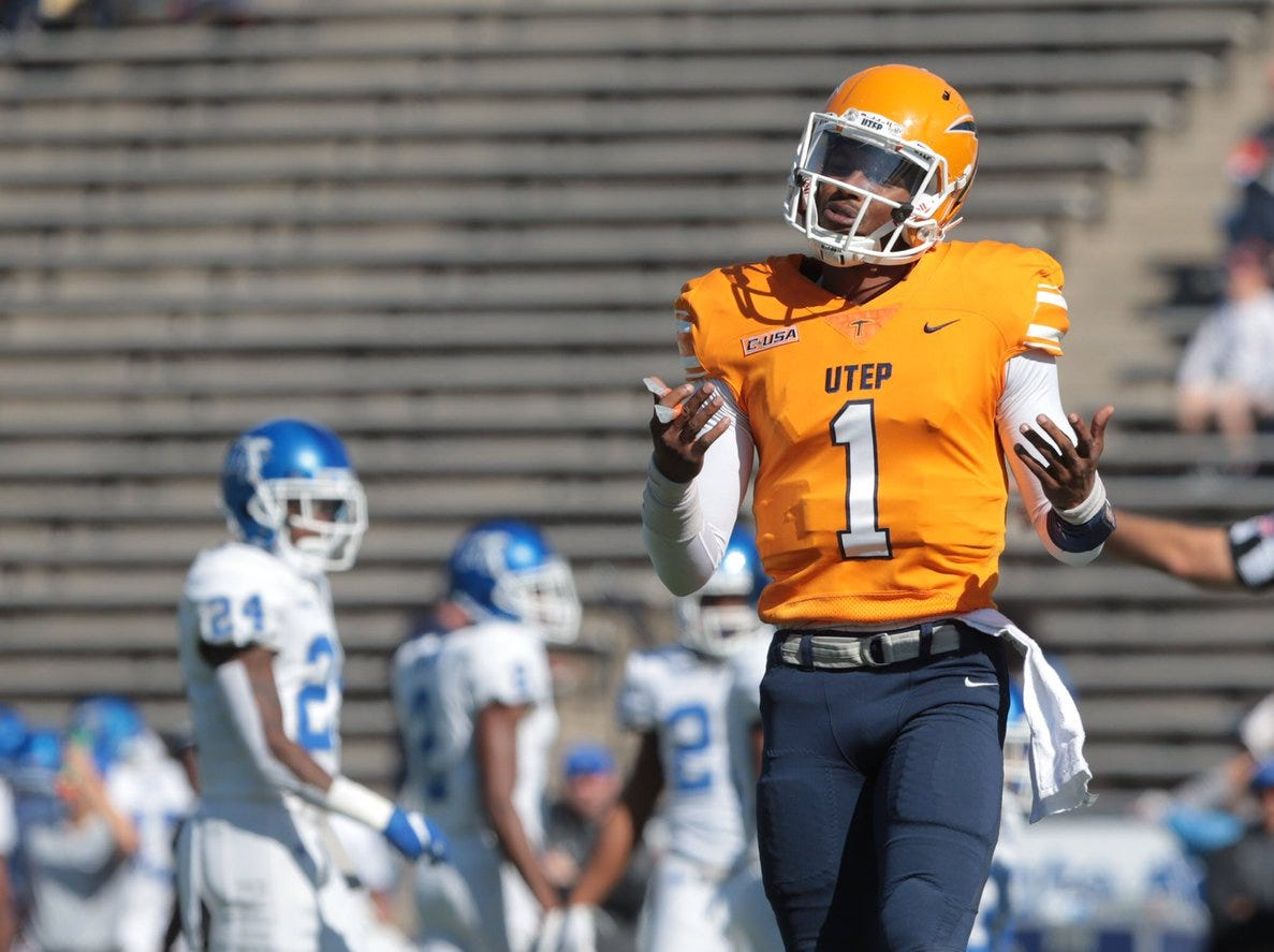 Most seats were empty as UTEP took on Middle Tennessee on Saturday at Sun Bowl Stadium.