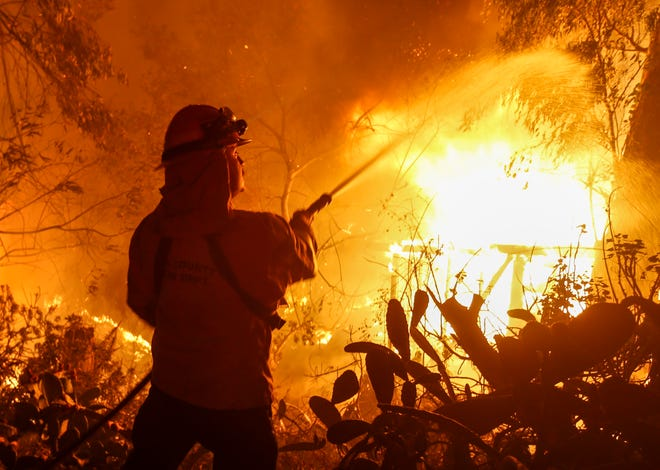 President Donald Trump on Wednesday threatened to withhold FEMA money from California, which was devastated by fires in November, including the Woolsey Fire that began near Simi Valley and burned through much of eastern Ventura County and Los Angeles County.