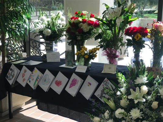 Flower donations for Sgt. Ron Helus