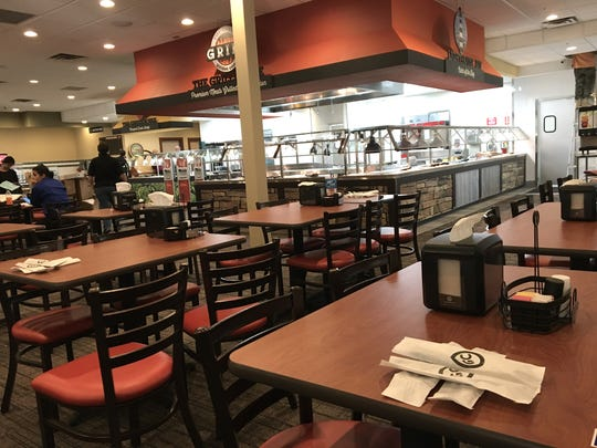 The dining room at Golden Corral in Oxnard will offer seating for 350 people.