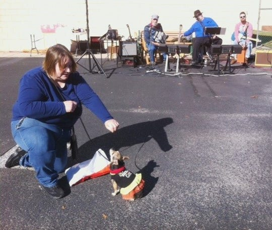 Cumberland Cape Atlantic YMCA's Barkfest featured a costume parade. Chris Leavenworth and her dog participated and even shared some tricks as the band, Train Wreck, performed at the event.