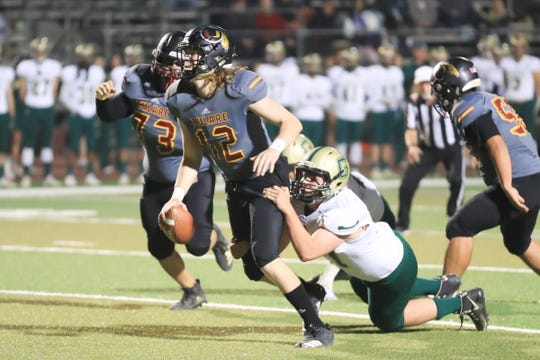 Tulare Union hosts Garces Memorial in a Central Section Division II quarterfinal high school football game at Bob Mathias Stadium on Nov. 9, 2018.