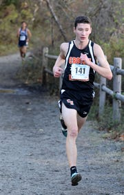 Sean Gardiner from Croton-Harmon runs the boys Class C race during the 2018 NYSPHSAA Cross Country Championships on Nov. 10.