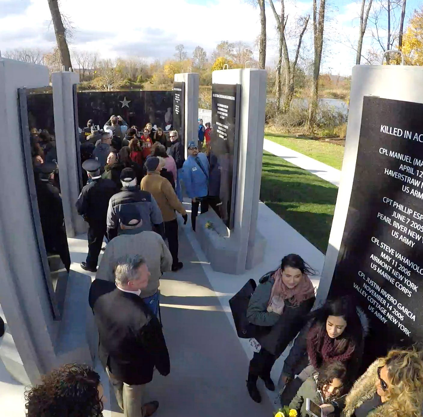 Rockland officials, veterans unveil monument to residents lost in Gulf, terror wars