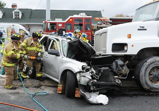 Rehoboth Beach crash: SUV hits cement truck on Del  1