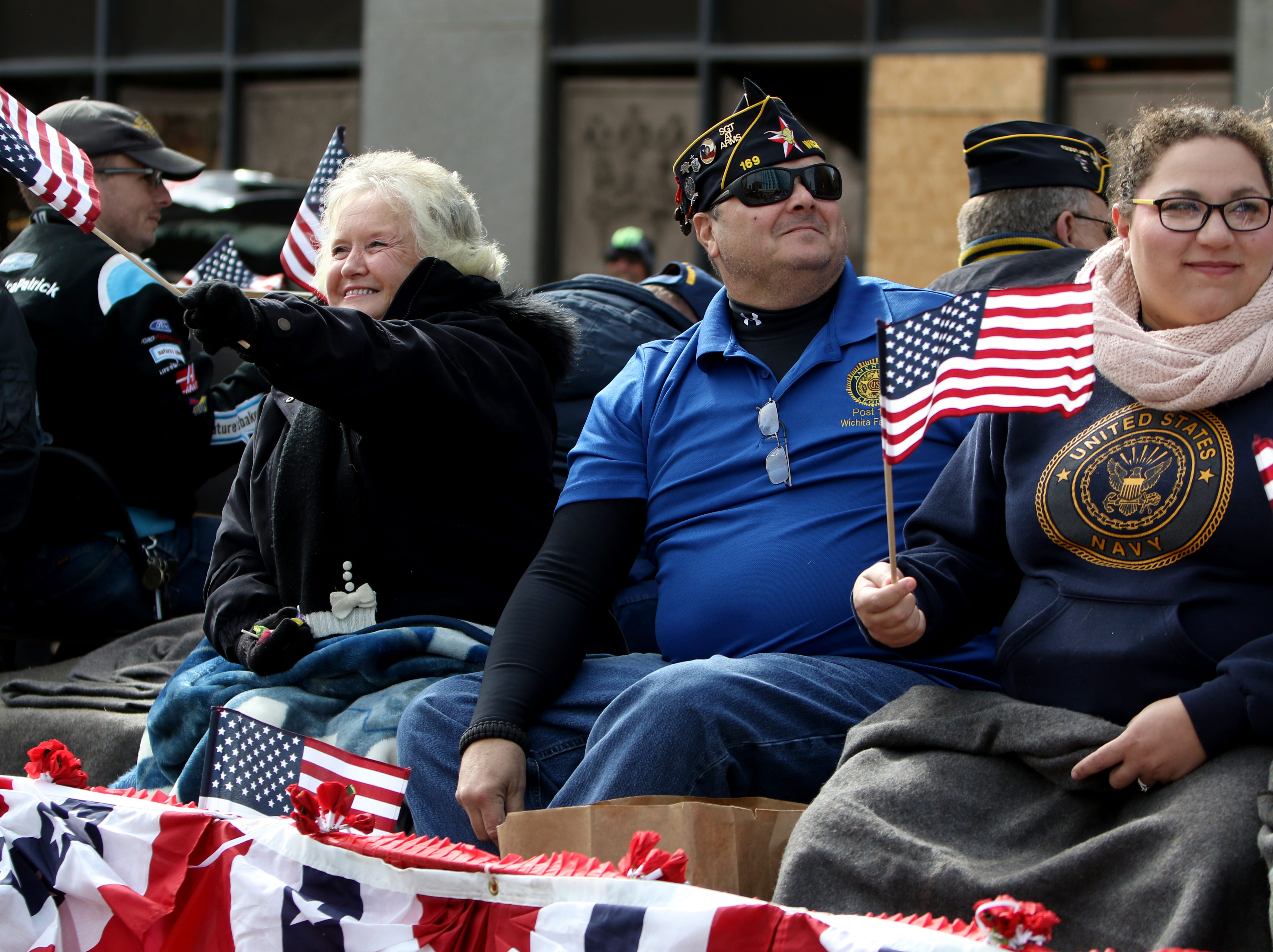 The American Legion Post #169 takes part in the Veterans Day parade Saturday, Nov. 10, 2018, in downtown Wichita Falls on the 100th anniversary of the Armistice of Compiègne that ended fighting in World War I.