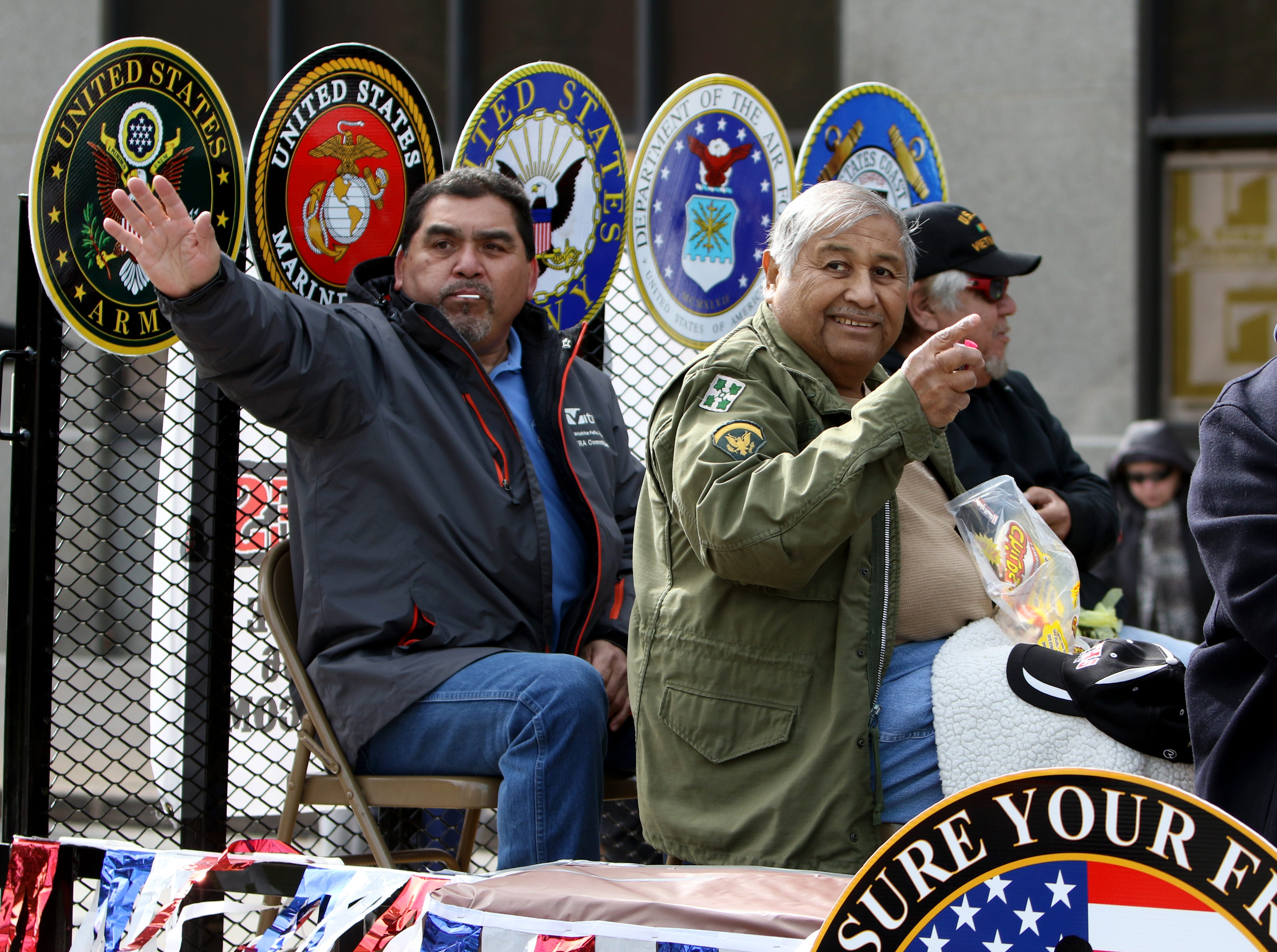 The Mexican American Veterans Association takes part in the Veterans Day parade Saturday, Nov. 10, 2018, in downtown Wichita Falls on the 100th anniversary of the Armistice of Compiègne that ended fighting in World War I.