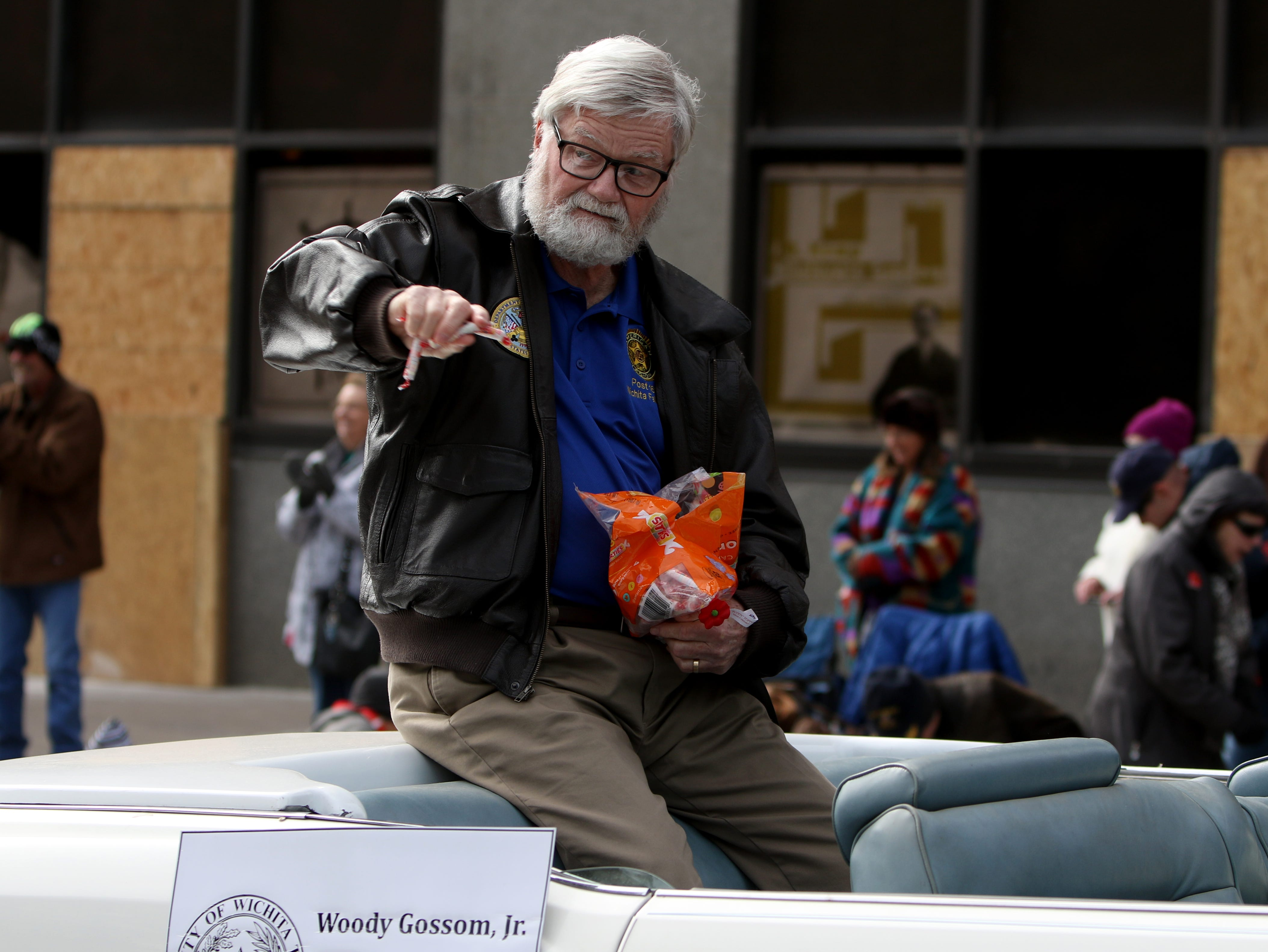 Wichita County Judge Woody Gossom takes part in the Veterans Day parade Saturday, Nov. 10, 2018, in downtown Wichita Falls on the 100th anniversary of the Armistice of Compiègne that ended fighting in World War I.