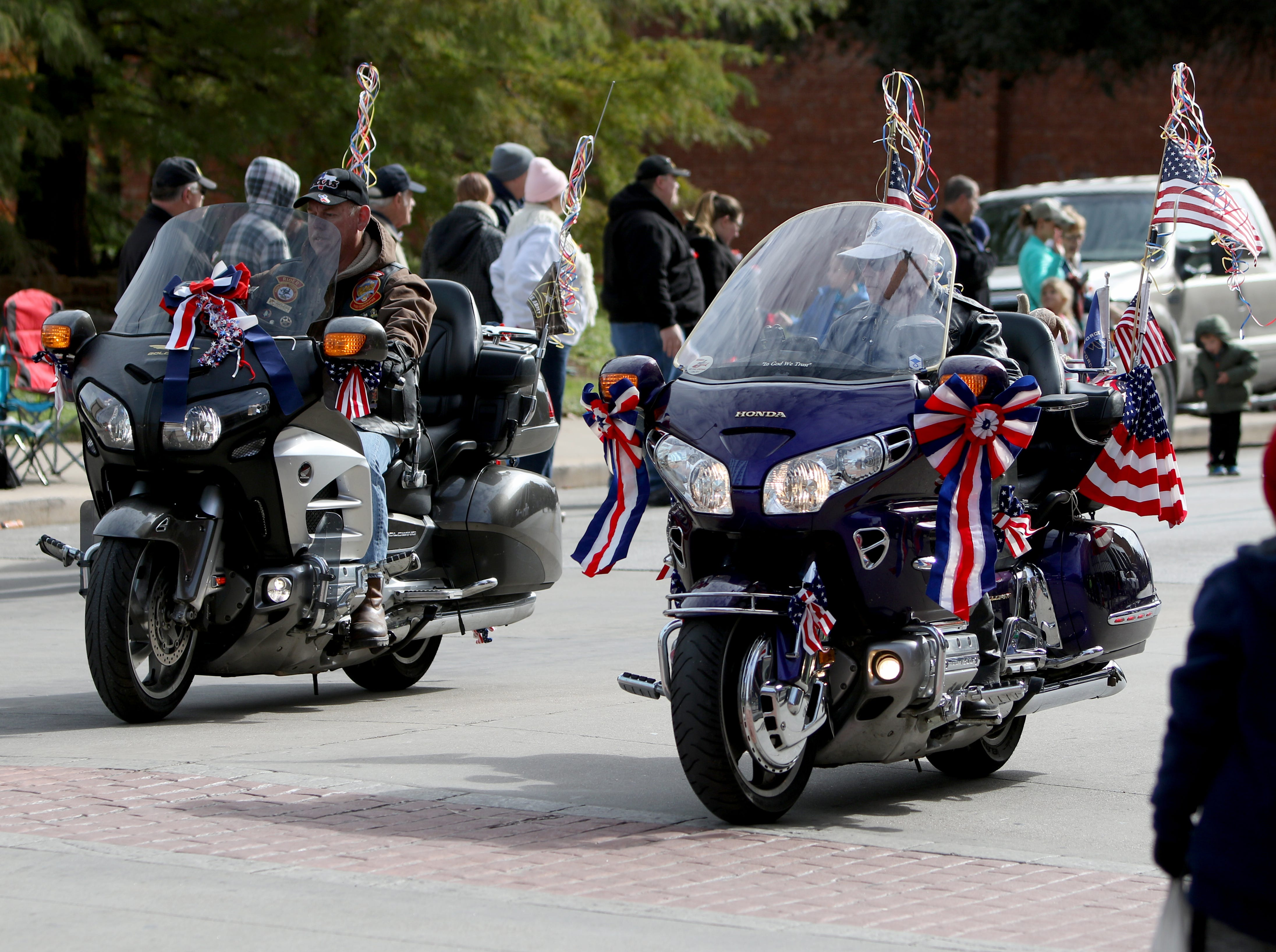 The military, JROTCs, schools and other organizations take part in the Veterans Day parade Saturday, Nov. 10, 2018, in downtown Wichita Falls on the 100th anniversary of the Armistice of Compiègne that ended fighting in World War I.