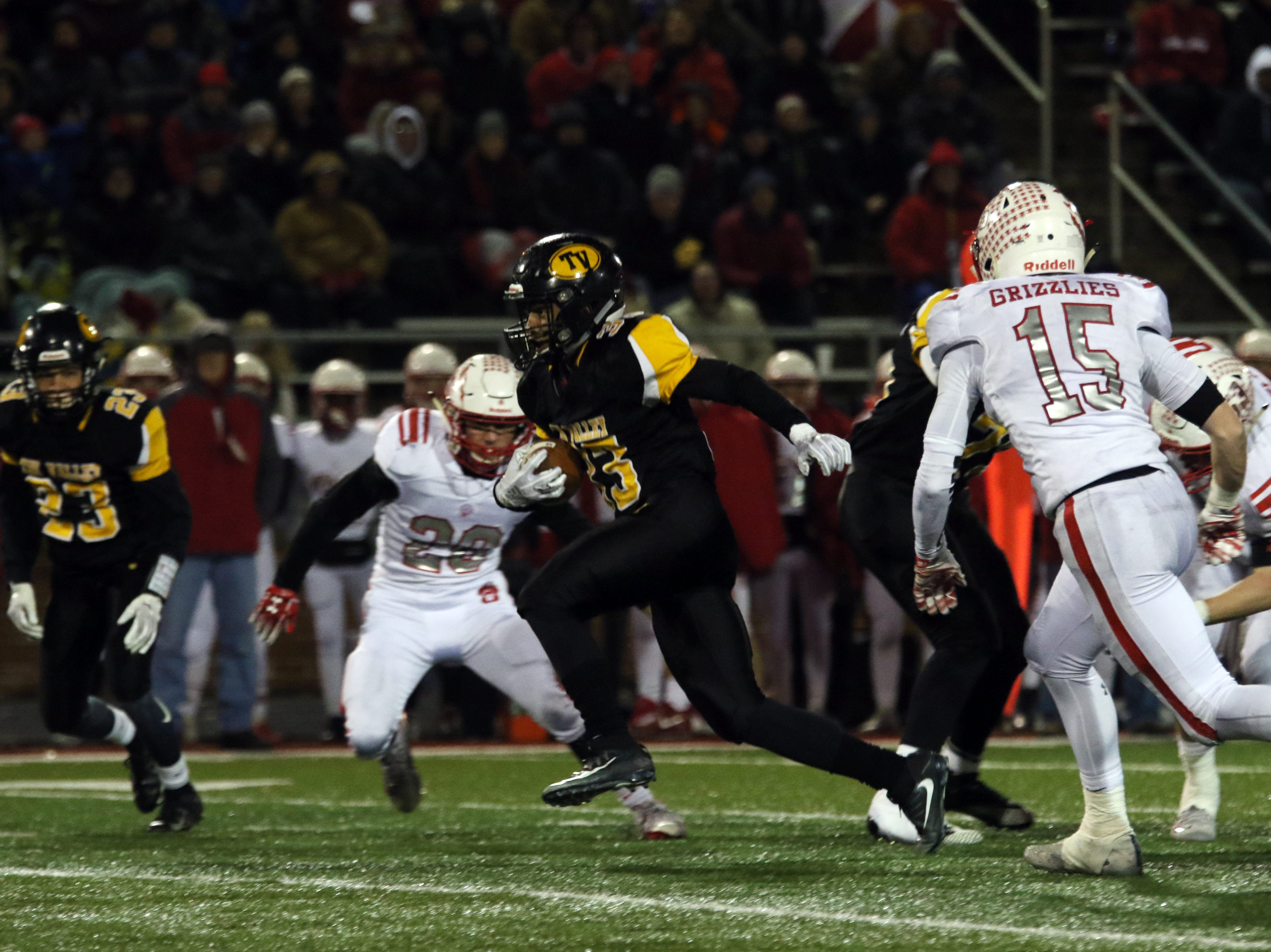 Tri-Valley's Jordan Pantaleo carries the ball against Wadsworth.