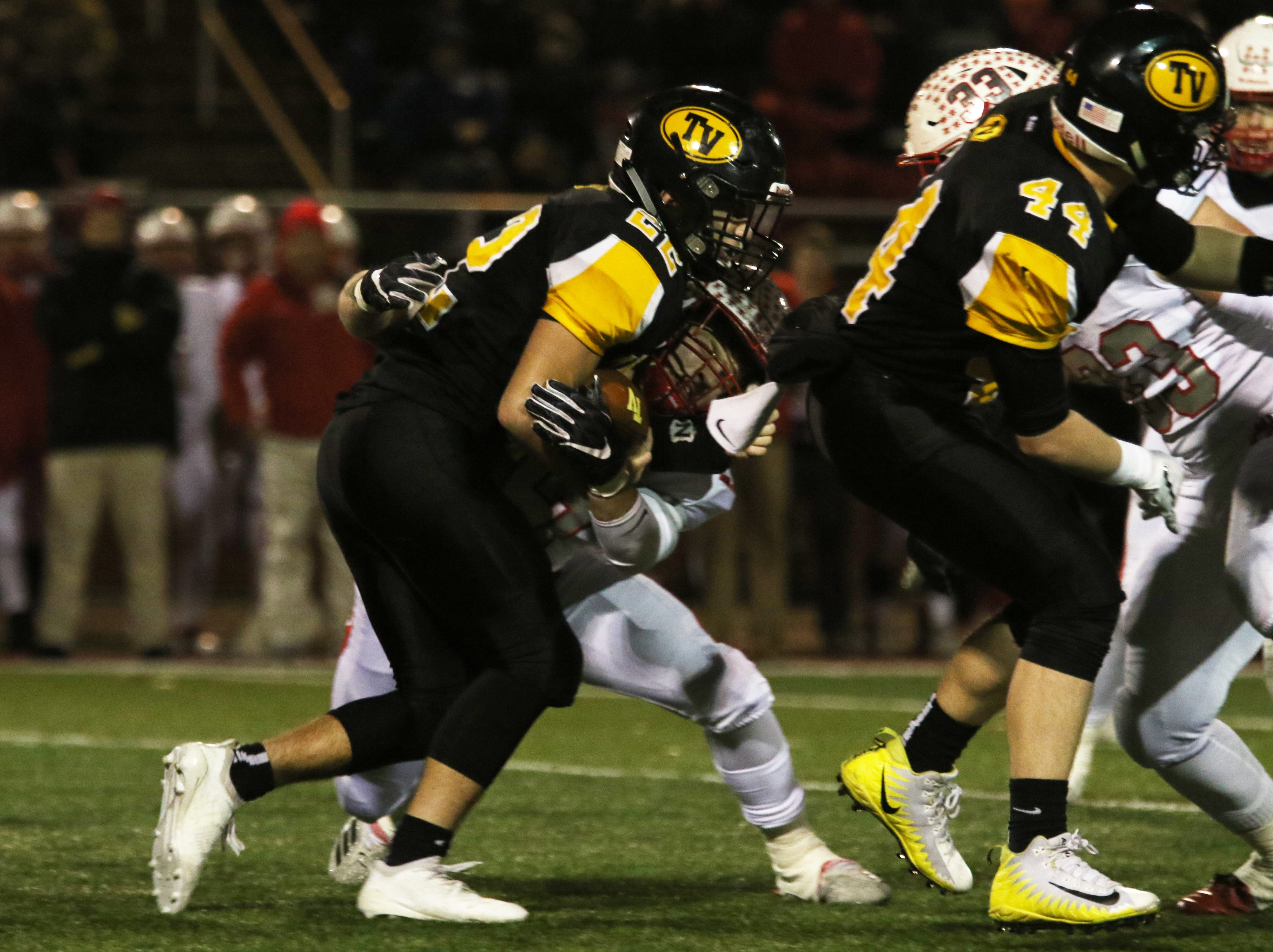 Tri-Valley's Blake Sands carries the ball against Wadsworth.
