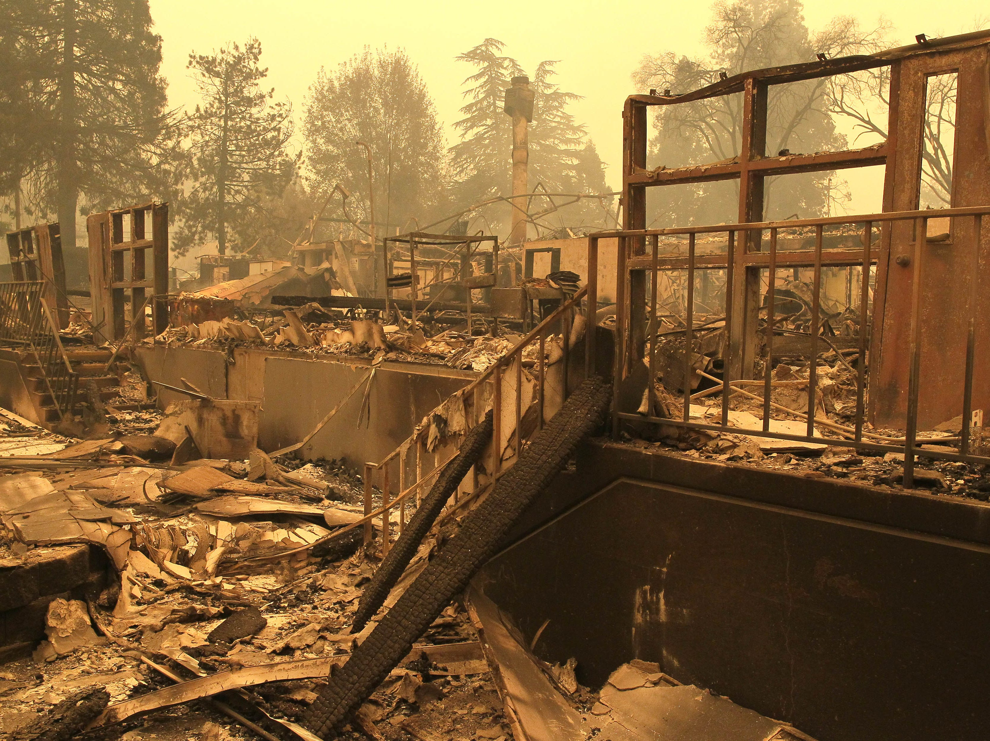 Paradise Elementary School buildings were burned down after the Camp Fire Nov. 9, 2018 in Chico, Calif.