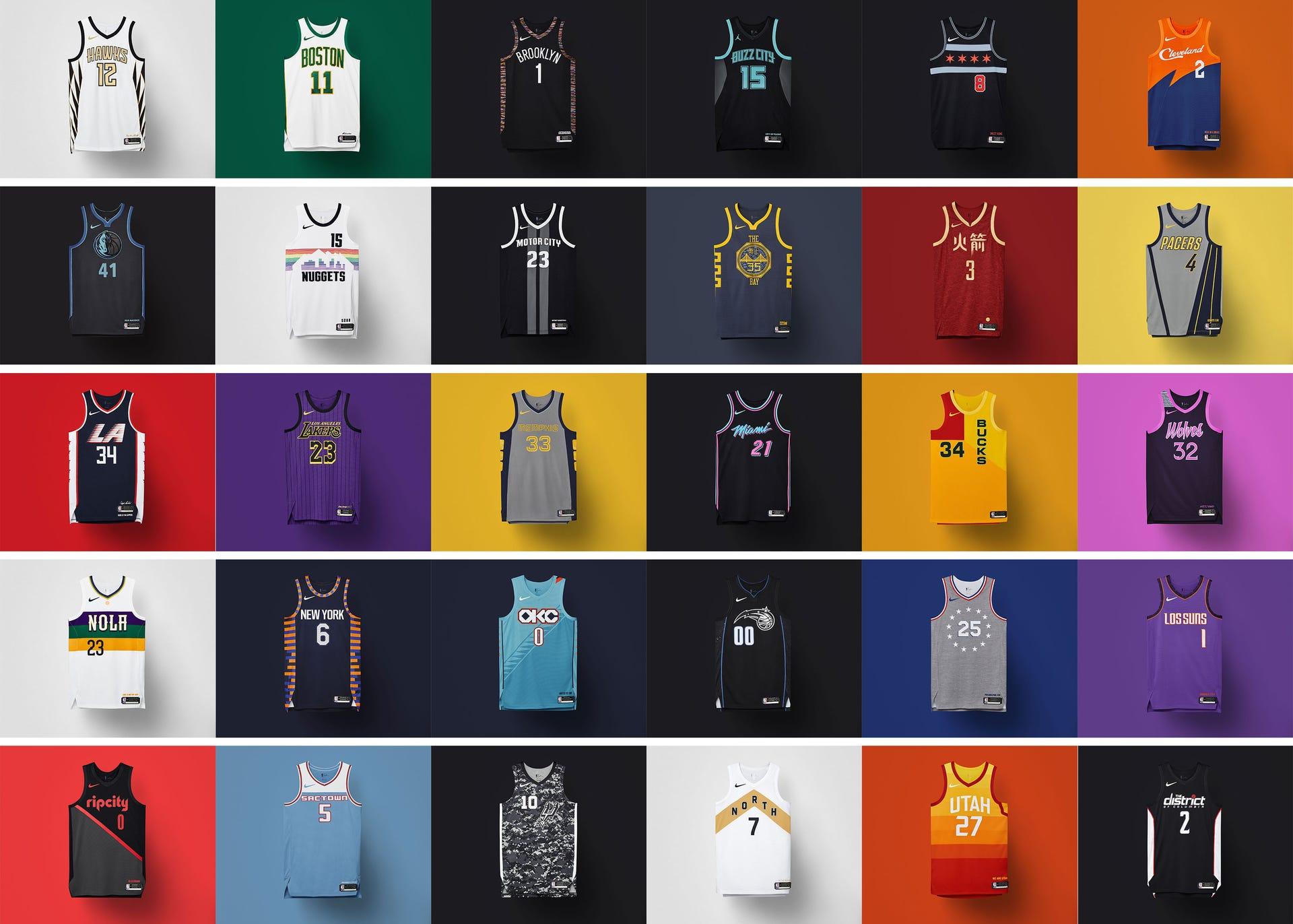 detailed look f7eac dbeac Nike NBA City Edition uniforms for 2018-19 season