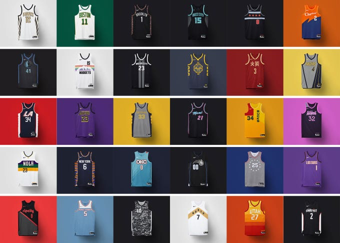 Flip through the gallery to see every NBA City Edition jersey for the 2018-19 season.