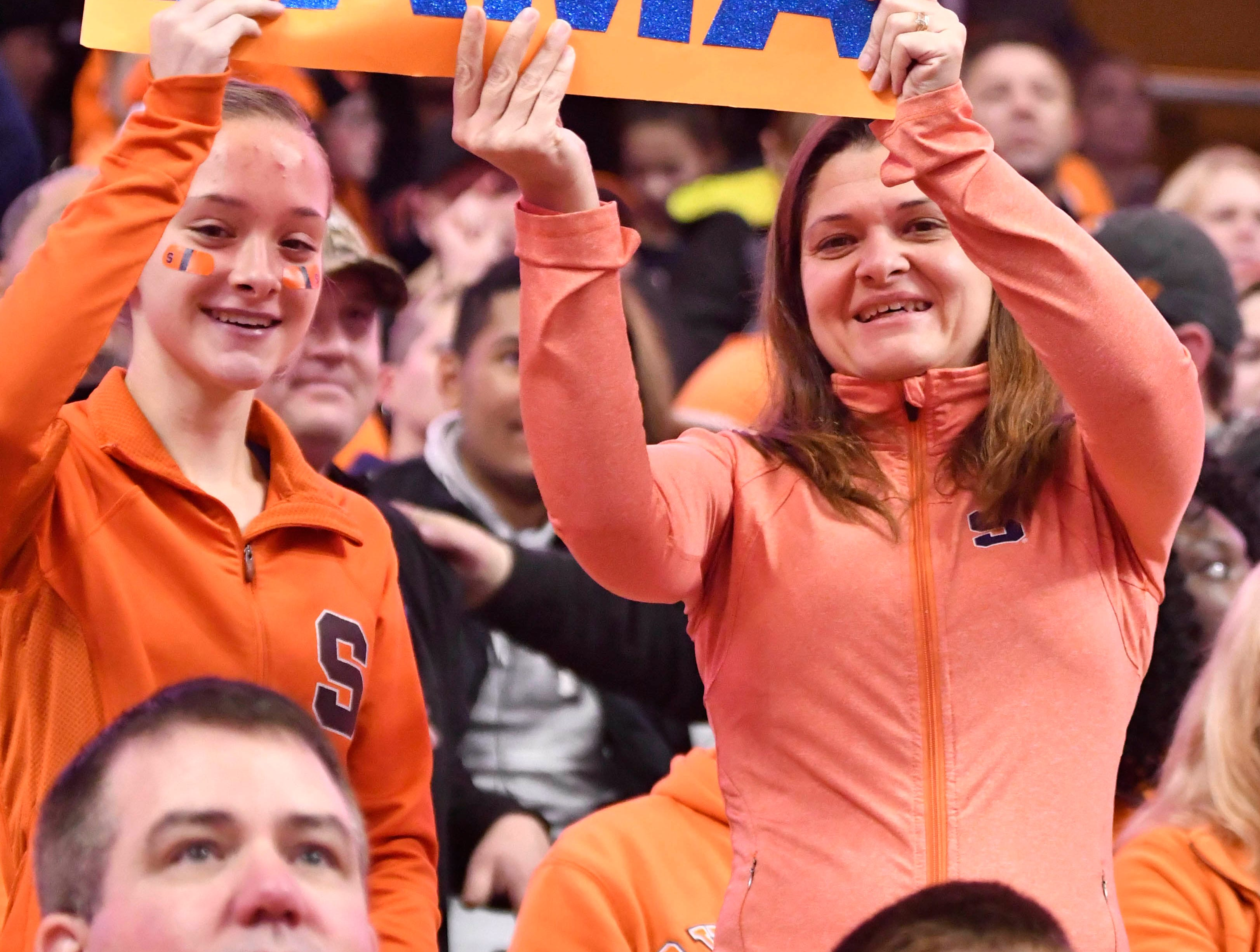 """Week 11: Syracuse Orange fans hold a """"We want 'Bama"""" sign during the game against the Louisville Cardinals at the Carrier Dome."""