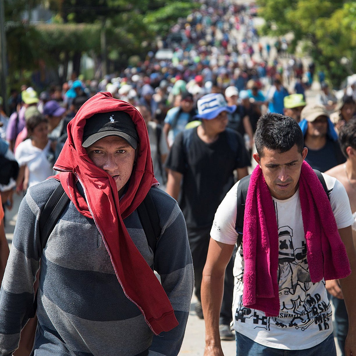 Migrant caravan numbers grow as it leaves Mexico City, appears headed to Tijuana