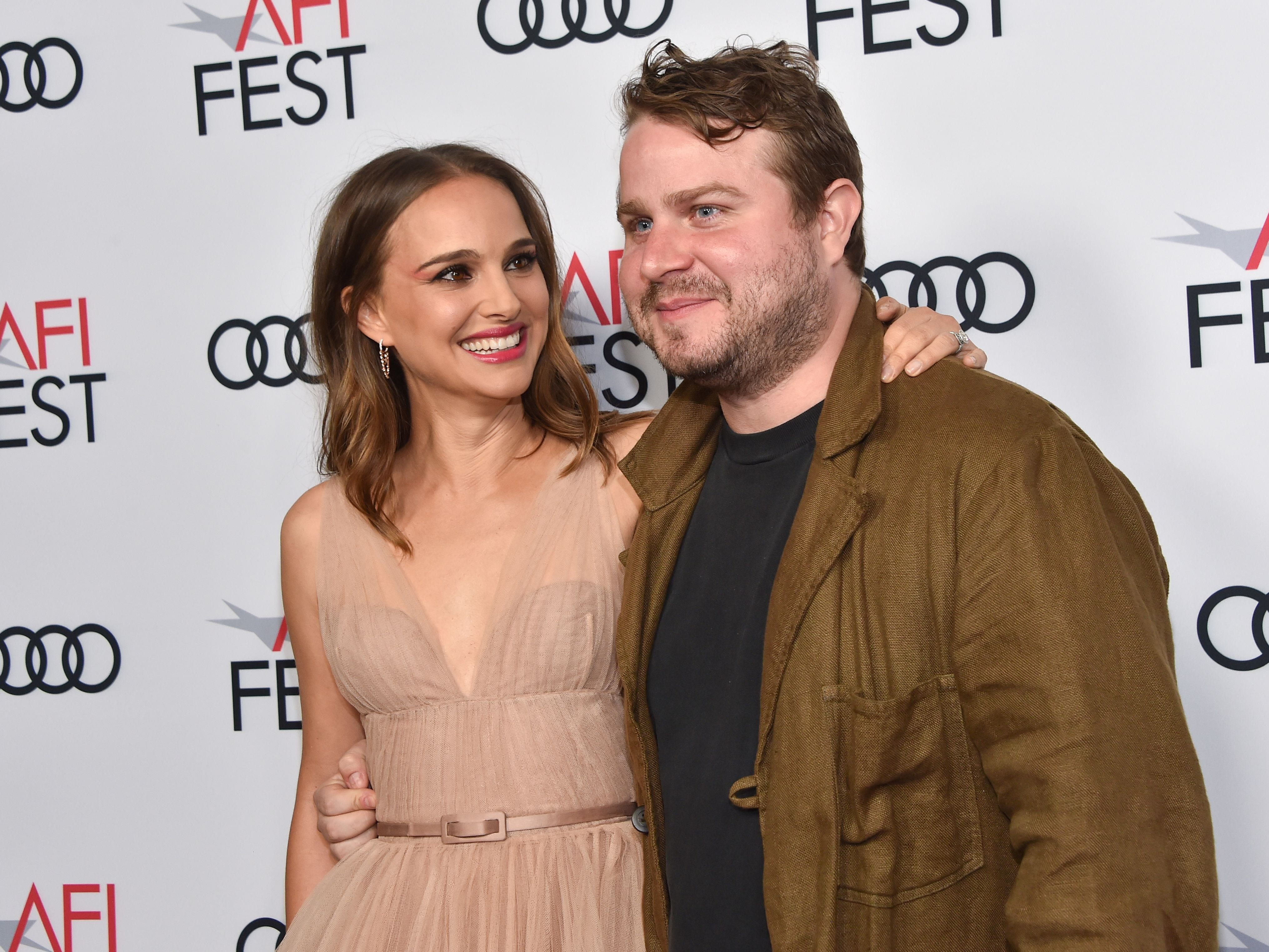 She also posed with director/writer Brady Corbet.