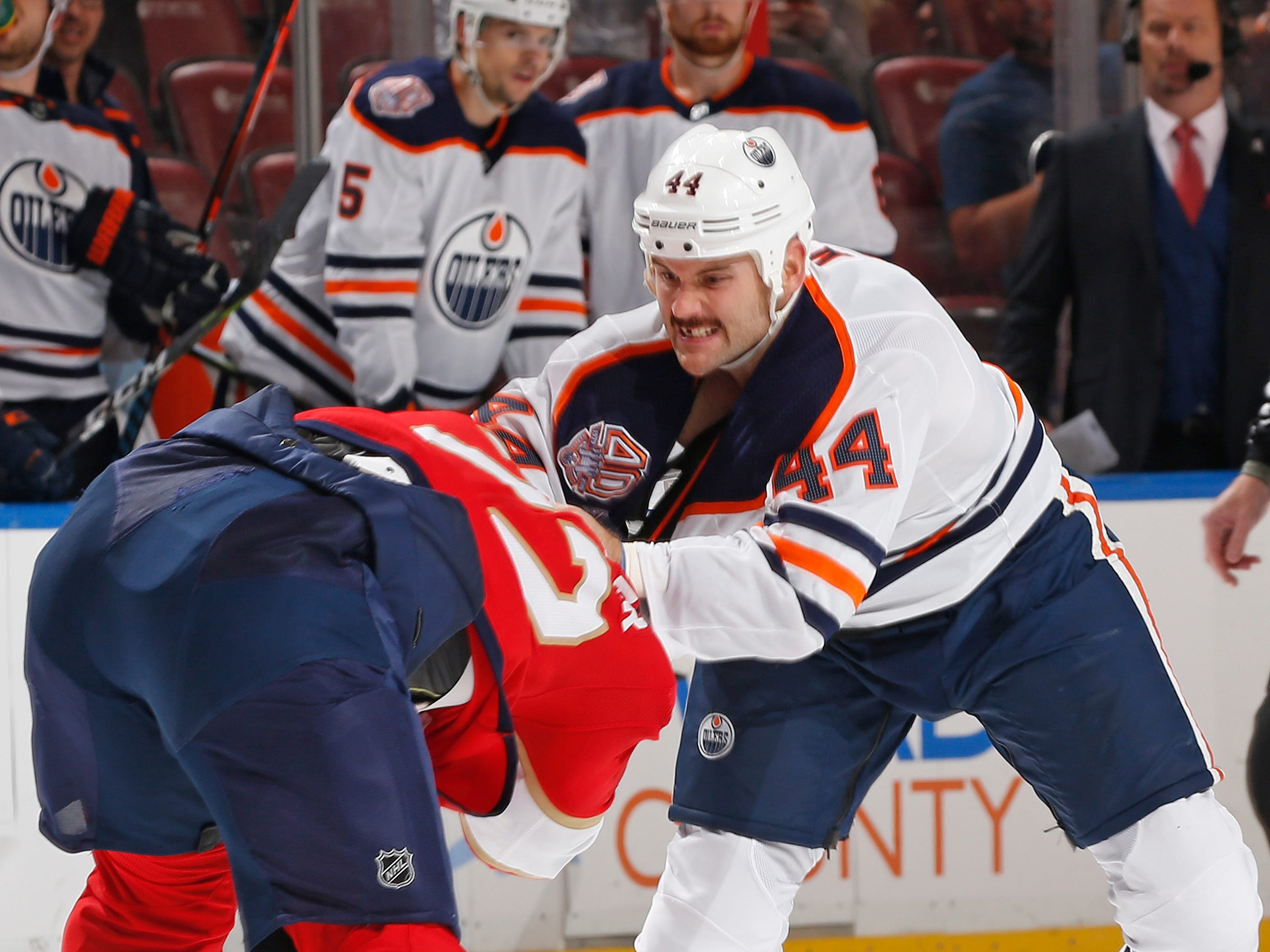 Nov. 8: Oilers' Zack Kassian vs. Panthers' Troy Brouwer.